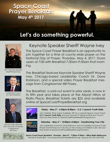 Space Coast Prayer Breakfast Full Page Flyer